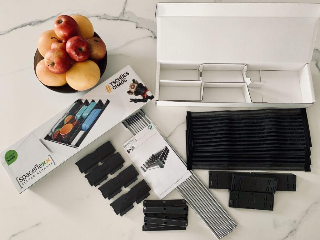 Porządek w kuchni przechowywanie w szufladzie Space Flex Peka