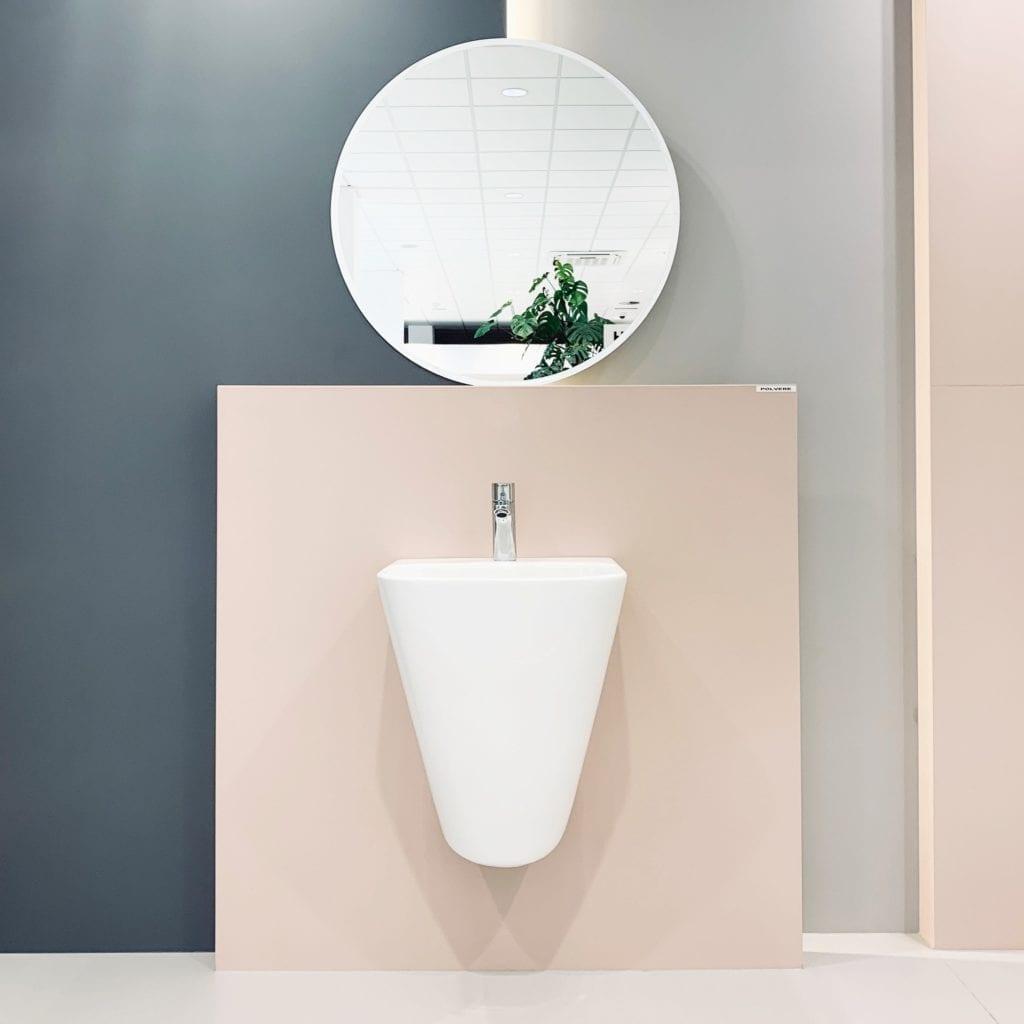 Fabryka-Showroom-Tubądzin-Płyty-Wielkoformatowe-Gresy-umywalka-wisząca