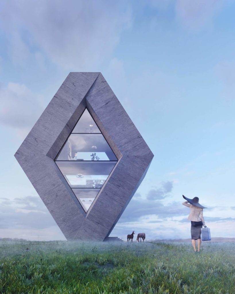 projekt-domu-w-kształcie-logo-renault