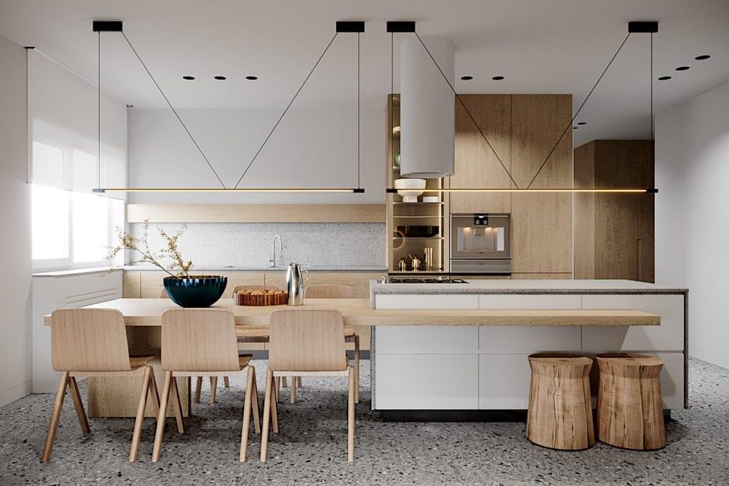 kuchnia-w-mieszkaniu-biel-drewno-najlepsze-wnętrza