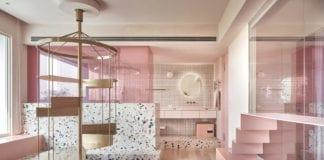 różowe-ściany-biel-pokój-złoto-inspiracje-lastryko