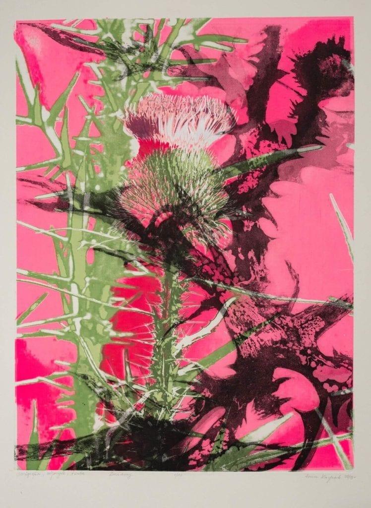 obraz-różowy-inspiracje-sztuka-Anna-Kacprzak-Zmiany-grafika-serigrafia-odprysk