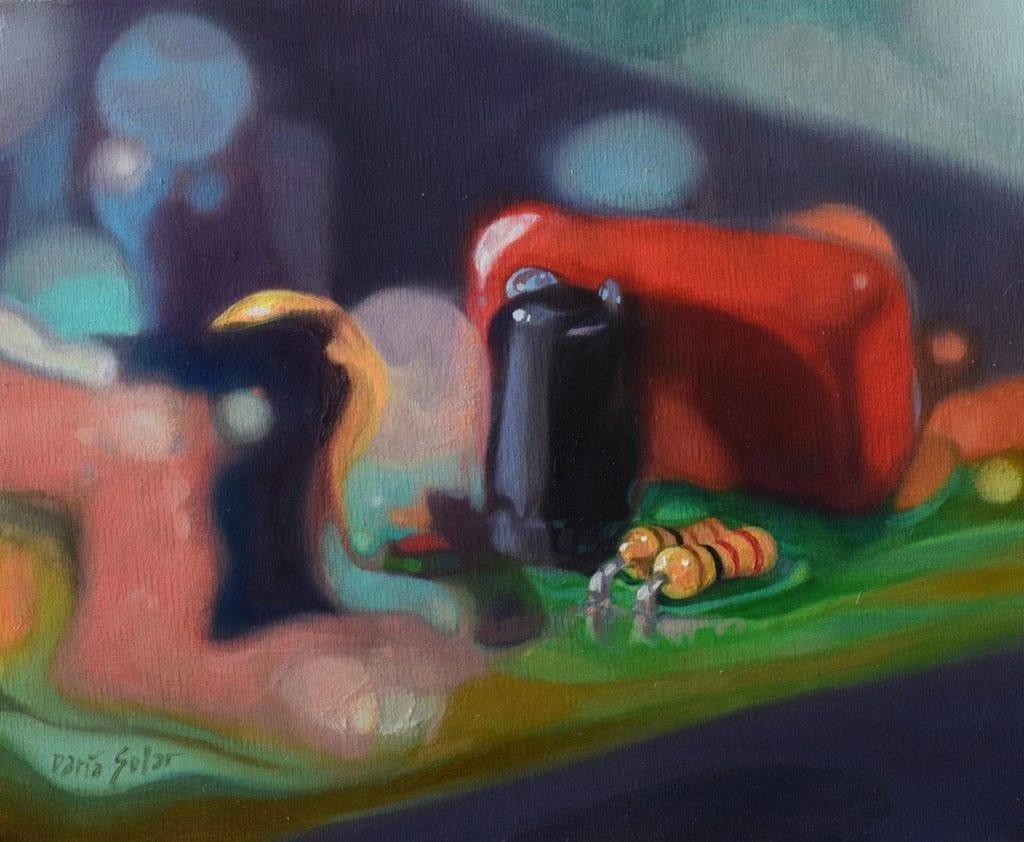 obraz-sztuka-inspiracje-Targi-Sztuki-Dostęonej-Daria-Solar-Pragnienie-olej-na-płótnie