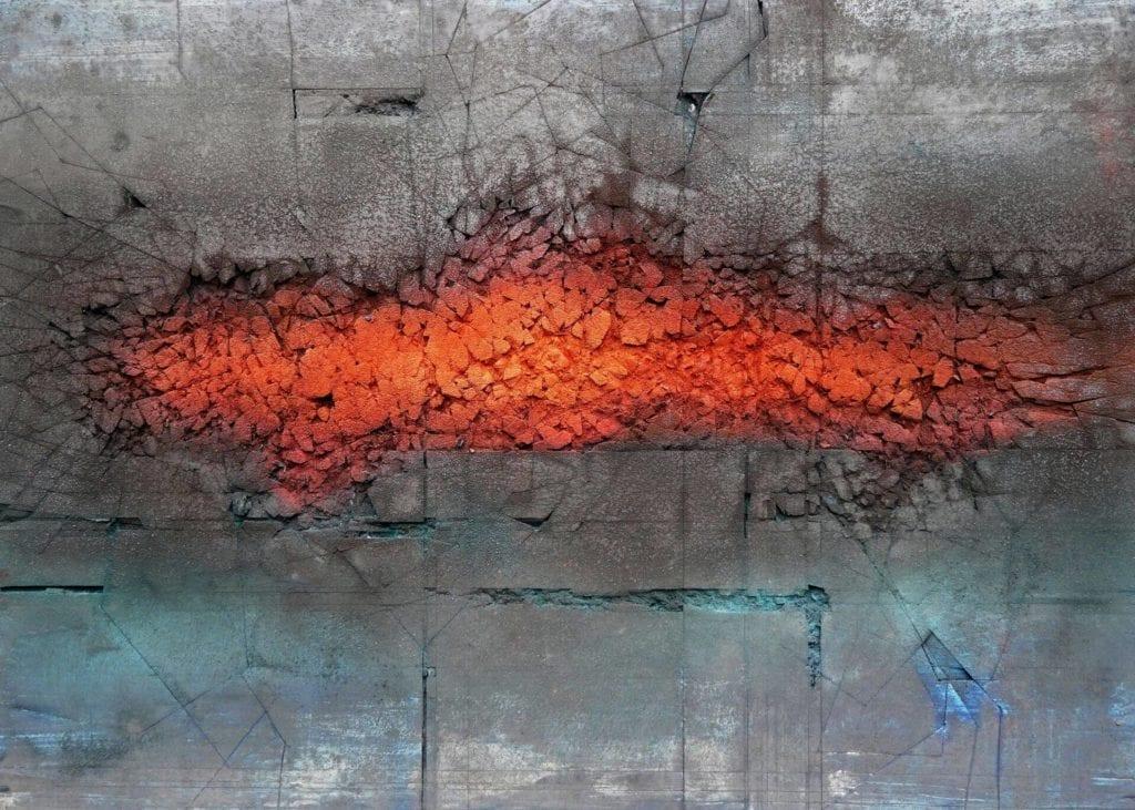 obraz-inspiracje-sztuka-Targi-Sztuki-Dostęonej-Dobiesław-Gała-z-cyklu-Rudimentum-technika-własna