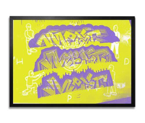 Młody-Dron-Objectiv-sitodru-2-kolory-(fluo)-na papierze-edycja 25 szt