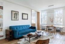 białe-wnętrze-aranżacje-inspiracje-salon-jadalnia-drewno-stół-krzesła-kanapa-stół-stolik-dywan