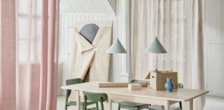 Kuchnia-wnętrze-inspiracje-stół-krzesła-lampa-ikea-romantyczne-dodatki