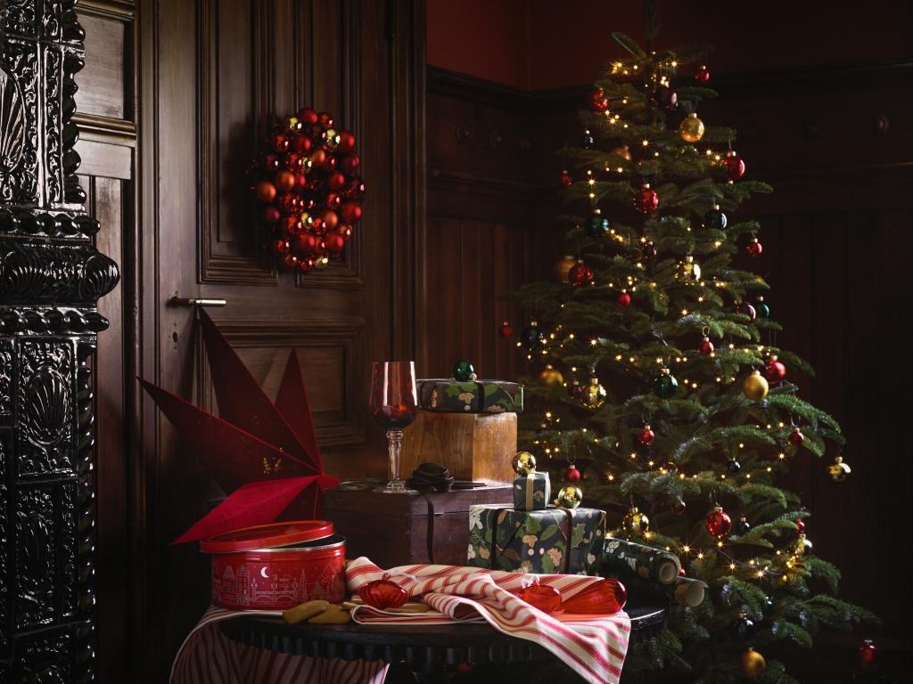 Ubrana choinka, świąteczny klimat, Święta, Świąteczne dekoracje