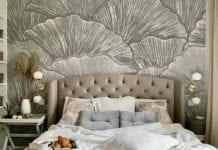 Aranżacja-małej-sypialni-tapeta-LondonArt