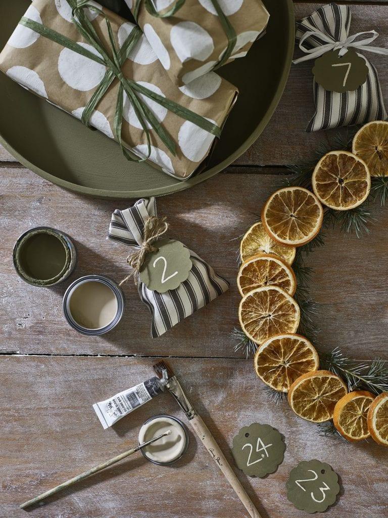 ozdoby świąteczne z pomarańczy