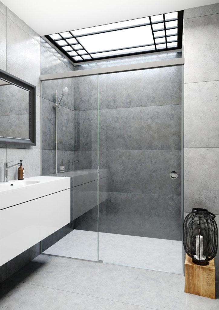idealny prysznic zabudowa drzwi przesuwne