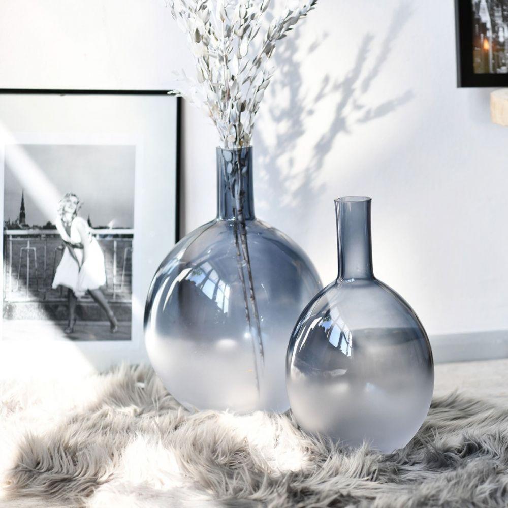 wazony ozdobne cieniowane szkło ombre niebieskie