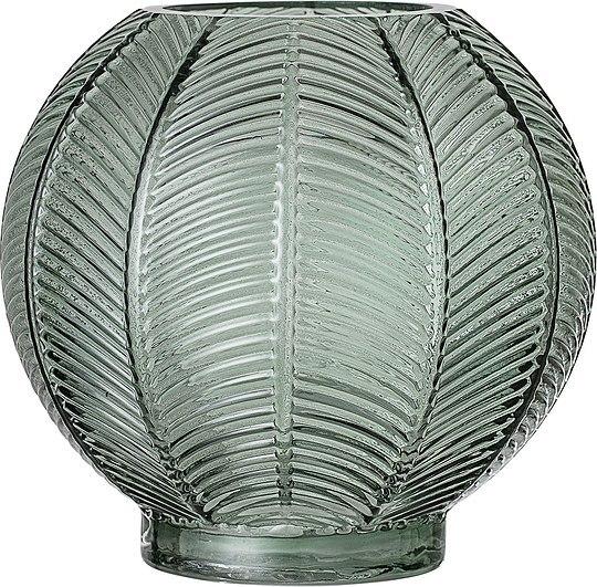 szklany wazonik zielony