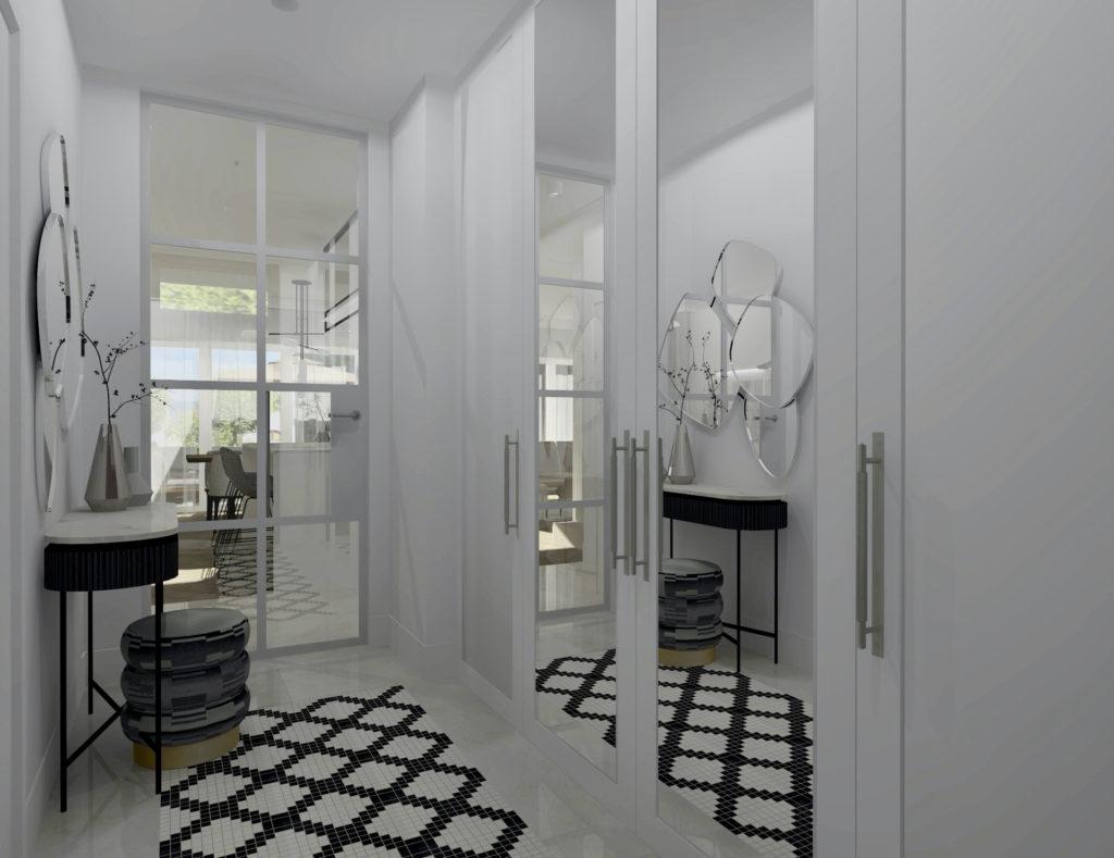 Realizacja projektu domu-#domprojektantkiwnętrz przedsionek, przedpokój, gres do przedpokoju