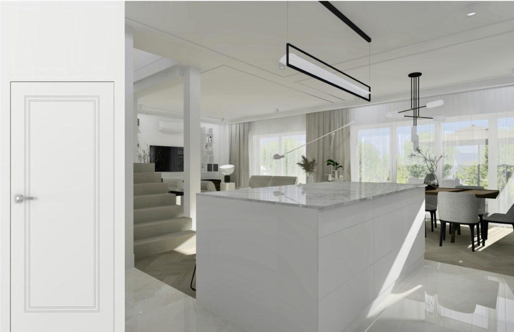 Jak-urządzić-duży-salon-z-jadalnią #domprojektantkiwnętrz drzwi wewnętrzne