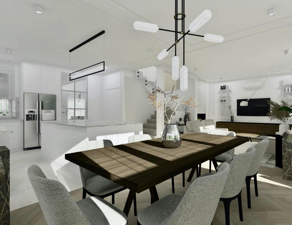 Jak-urządzić-duży-salon-z-jadalnią #domprojektantkiwnętrz jadalnia kuchnia